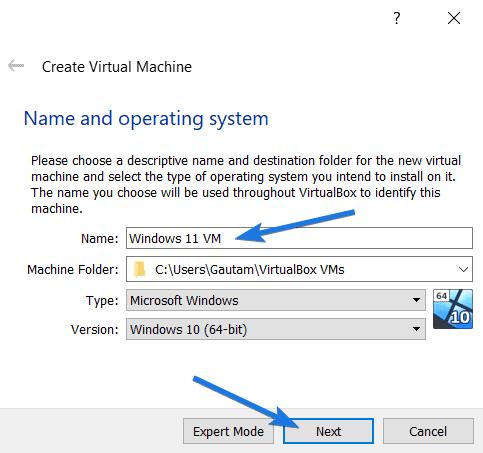 Windows 11 VM 64 bit