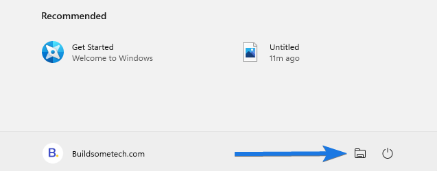 Add Folders Next to Power Button in Start Menu for Windows 11