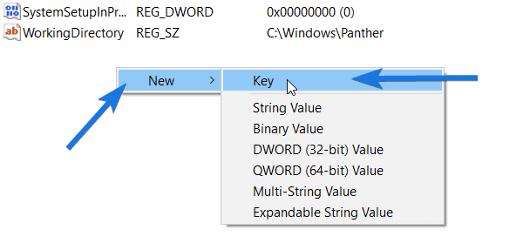 Choose Key Option