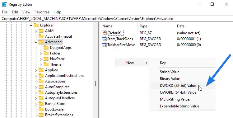 Create a New Start Menu Registry File
