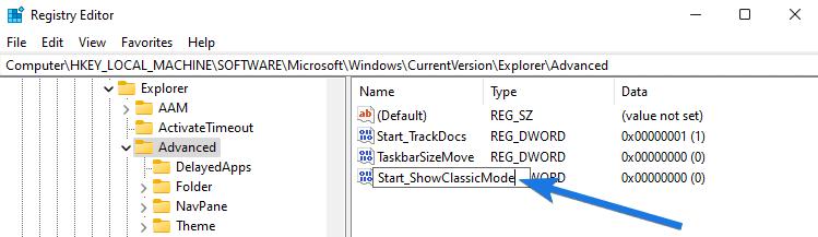 Rename the DWORD Registry File