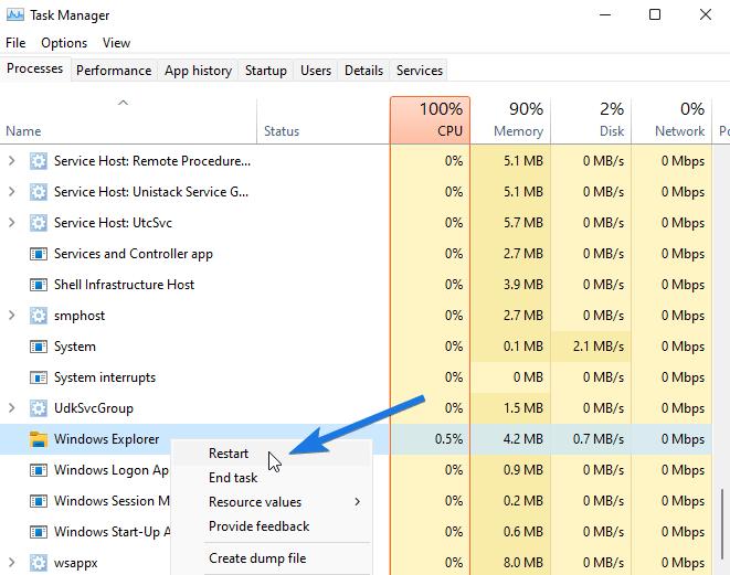 Run Windows Explorer.exe