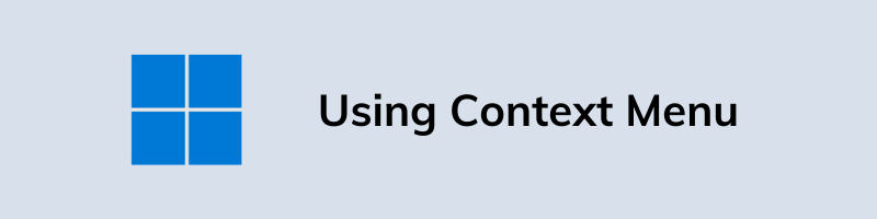 Using Context Menu
