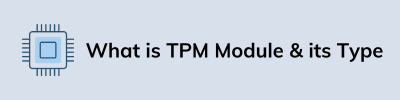 What is TPM Module & its Type