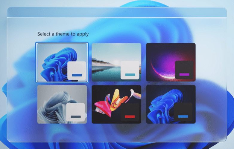 Windows 11 New Design and Visual Effects