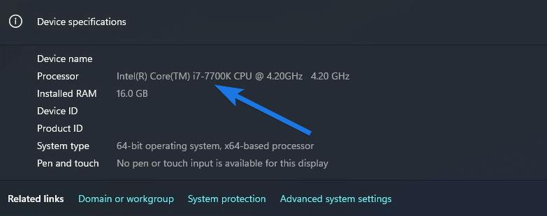i7 7700k running windows 11