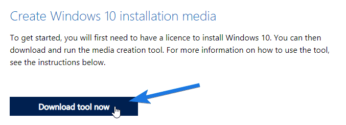 Click on Download tool now button