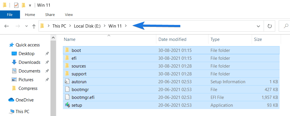 Create New Win 11 Folder and Paste Files