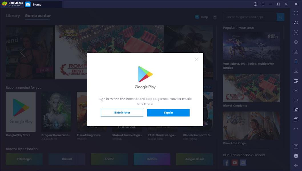 Login into your Google PlayStore Account