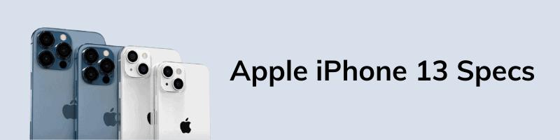 Apple iPhone 13 Specs