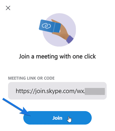 Paste Meeting Link and Click on Join