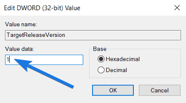 Set TargetReleaseVersion Value as 1