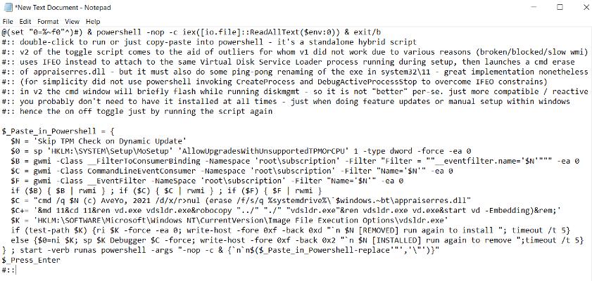 TPM Bypass Script